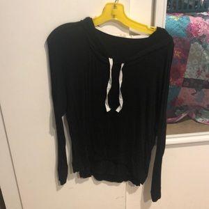 Heart 💗 Hips • Black Slouchy Sweatshirt